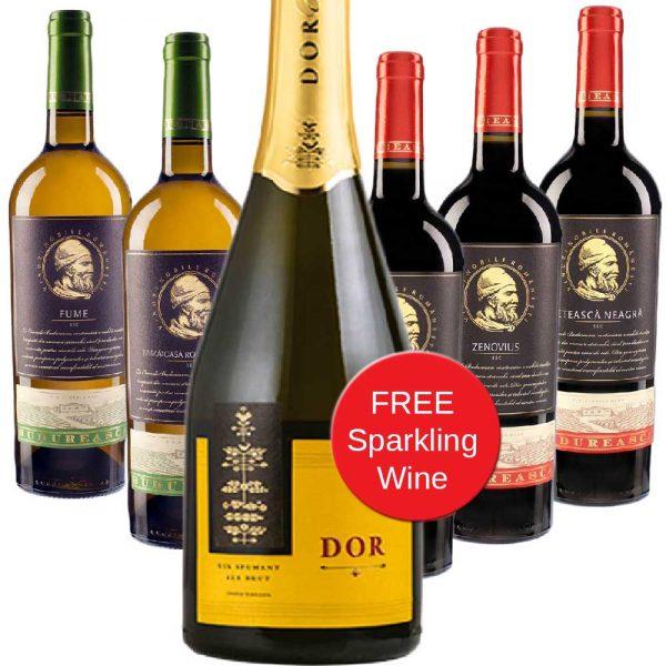 Budureasca 6 Bottles Premium Red & White Wine Mixed Case 1