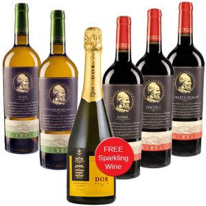 Budureasca 6 Bottles Premium Red & White Wine Mixed Case
